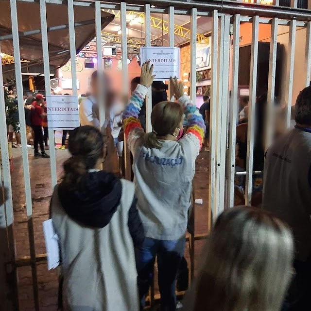 SAJ: boteco com aglomeração e clientes sem máscaras é interditado