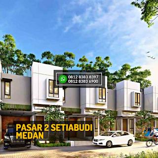 Tampak Depan 1 Rumah Cantik Mewah Berkualitas di Pasar 2 Setiabudi Ringroad Medan - Twin Luxury