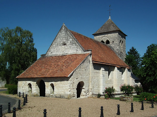 Romanesque church of Saint Martin, Marce sur Esves.  Indre et Loire, France. Photographed by Susan Walter. Tour the Loire Valley with a classic car and a private guide.