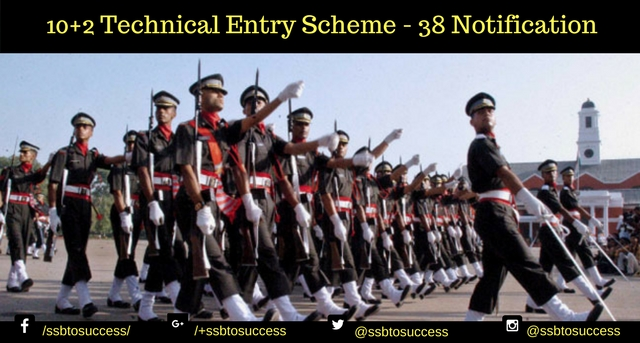 10+2 Technical Entry Scheme (TES) - 38 Notification
