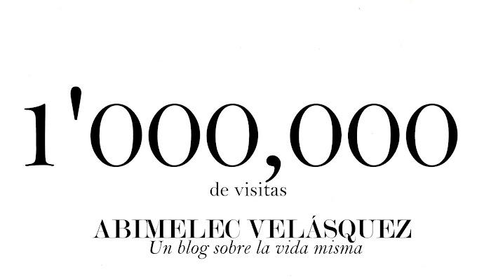 1 MILLÓN DE VISITAS LOGRADAS, ¡GRACIAS!