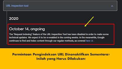 Yang Harus Dilakukan Ketika Pengindeksan URL Melalui Search Console Dinonaktifkan Sementara