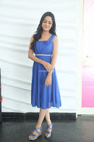 Divya Nandini stunning Beauty in blue Dress at Trendz Exhibition Launch ~  Celebrities Galleries 056.JPG