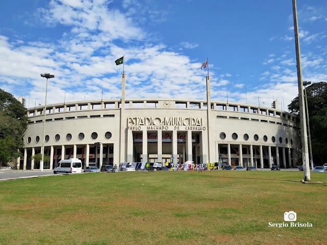 Vista ampla do Estádio Municipal Paulo Machado de Carvalho - Pacaembu - São Paulo