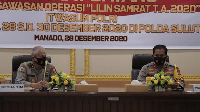 Ops Lilin Samrat – 2020 Polda Sulut serta Jajaran Dipantau langsung Tim Itwasum Polri