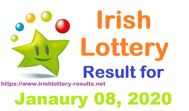 Irish Lottery Results for Wednesday, January 08, 2020