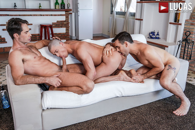 LucasEntertainment - MICHAEL LUCAS AND MAX ARION DOUBLE-TEAM RUSLAN ANGELO