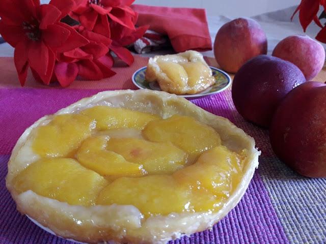 peaches-tatin-tart, tarta-tatin-de-melocoton