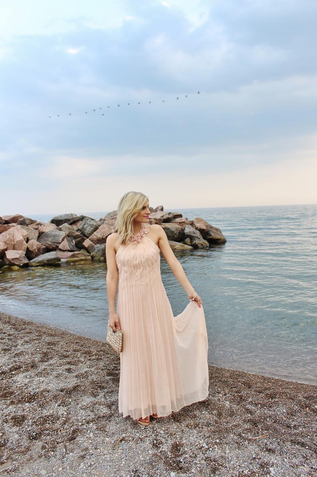 bijuleni-Marc Cain blush chiffon gown