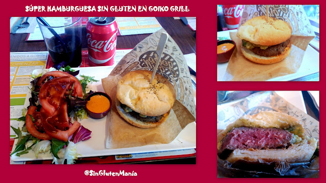 Hamburguesa sin gluten en Goiko Grill Madrid
