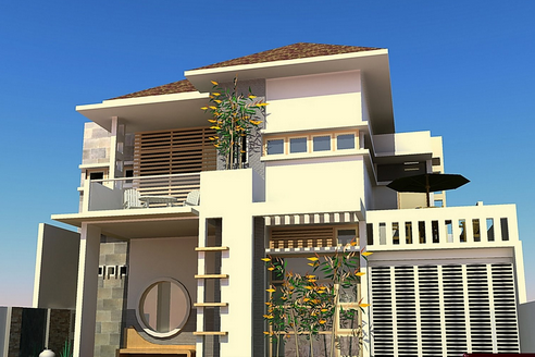 desain rumah minimalis modern 2 lantai - gudang makalah