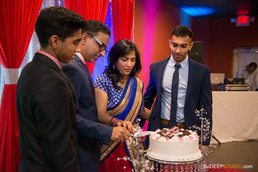 Indian Wedding Anniversary Party Cake Cutting - SudeepStudio.com ann Arbor Wedding Photographer