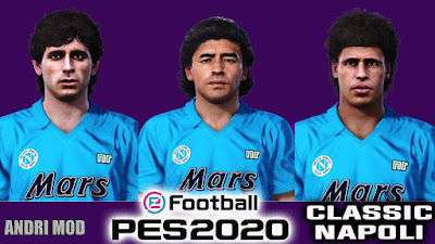 PES 2020 Faces Napoli Legends by Andri Mod
