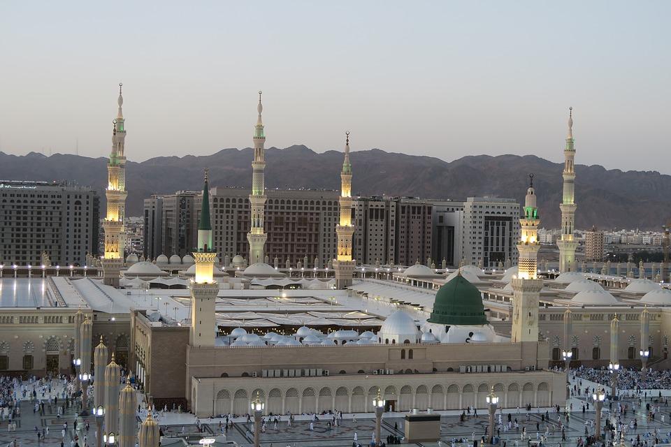 Those Proceeding To Makkah Saudi Arabia For Hajj The Annual Pilgrimage Or Umra Their Definite Destination In Is Holy City Of Medina Al