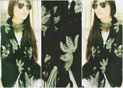 Bufanda de Flores de Crochet Patron