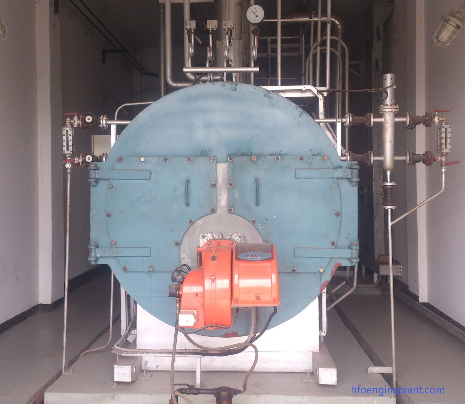 Auxiliary Boiler in HFO Power Plant - HFO POWER PLANT