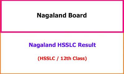 Nagaland HSSLC 12th Class Exam Result