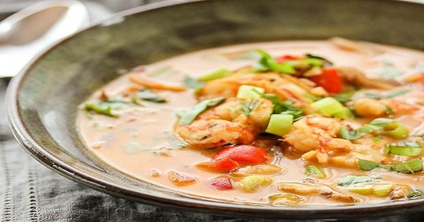 Shrimp Coconut Curry Soup Recipe