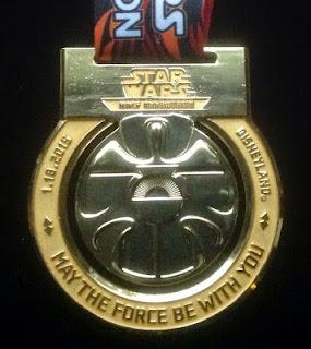 2015 Star Wars Half Marathon medal