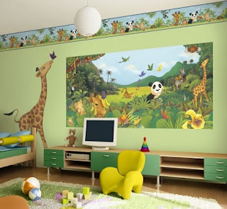 dormitorio temático selva