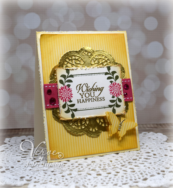 Card by Julee Tilman featuring Verve Stamps. www.poeticartistry.blogspot.com