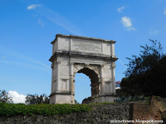 Римский Форум - Триумфальная арка Тита