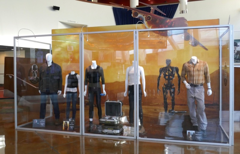Terminator Dark Fate movie costumes prop exhibit