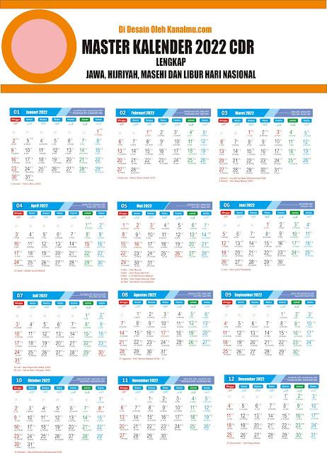 Kalender 2022 cdr  pdf- kanalmu