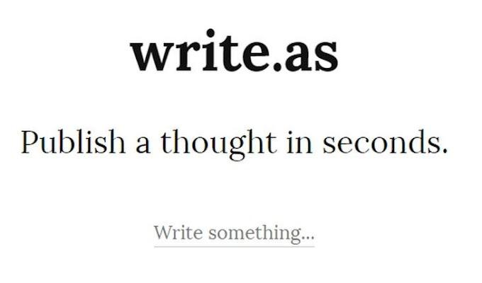Write.as, sencilla y práctica plataforma de publicación en Internet