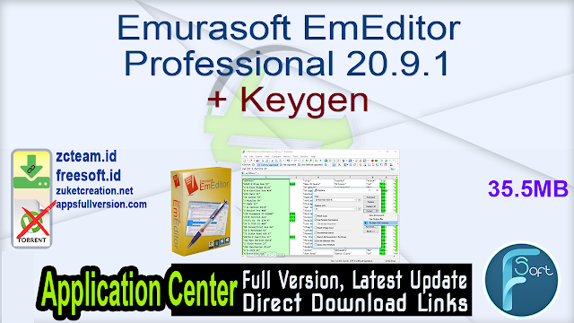 Emurasoft EmEditor Professional 20.9.1 + Keygen_ ZcTeam.id
