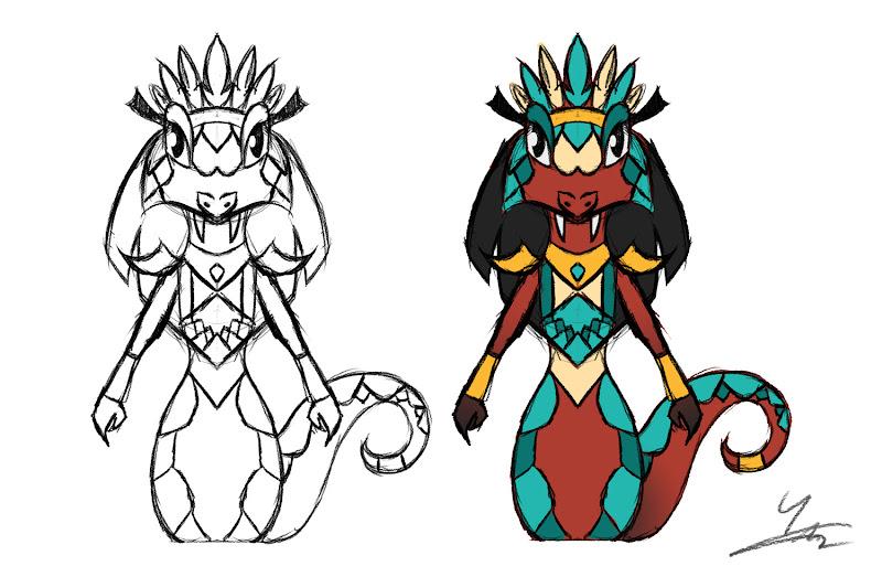 Naga Character Design