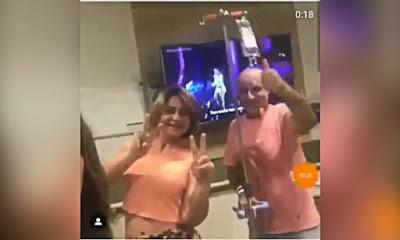 Queiroz dançando no hospital