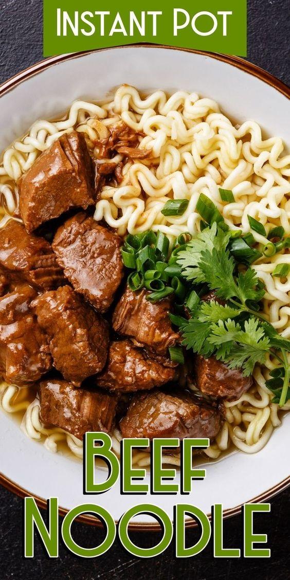 Instant Pot Beef Noodle