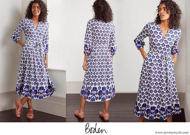 Princess Stephanie wore Boden Delilah Jersey Midi Dress