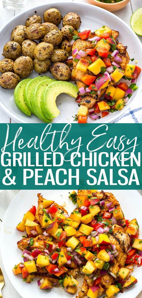 GRILLED CHICKEN WITH PEACH JALAPENO SALSA