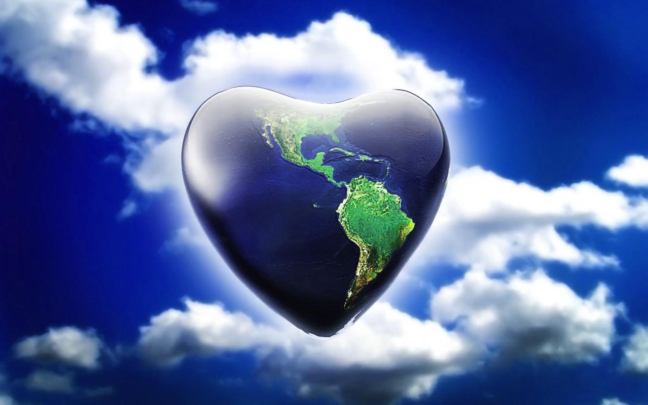 3D Love Heart Wallpaper