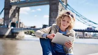 traveling dengan tablet