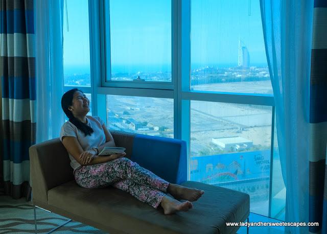 Novotel Al Barsha hotel view of Burj Al Arab