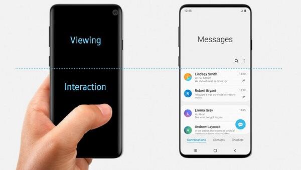 Samsung Galaxy S10 مع واجهة OneUI