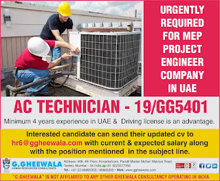 AC Technician for UAE