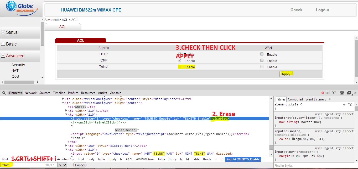 vip mac address for bm622m