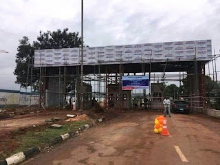 Exit/entrance of Akanu Ibiam uncompleted structure