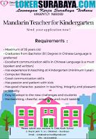 Urgently Needed at Cinta Kasih School Surabaya October 2020