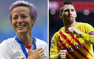 Lionel Messi and Megan Rapinoe wins Ballon d'Or award 2019