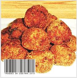 Bolinho frito crocante de berinjela