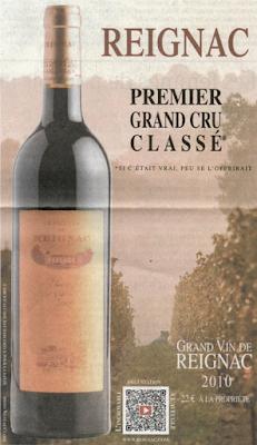 Château Reignac Publicité blog vin Beaux-Vins oenologie dégustation