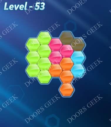 Block! Hexa Puzzle [5 Mania] Level 53 Solution, Cheats, Walkthrough for android, iphone, ipad, ipod
