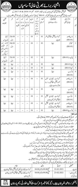 special-education-department-rahim-yar-khan-government-jobs-2020