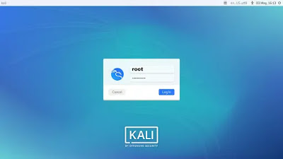 login root account in Kali Linnux 2020.2