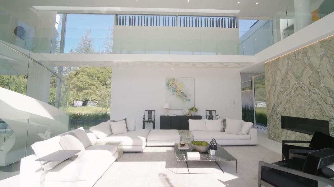 107 Interior Photos vs. 276 Atherton Ave, Atherton, CA Ultra Luxury Modern Mansion Tour